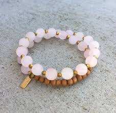 rose bead bracelet images Matte rose quartz and sandalwood 39 love and healing 39 27 bead jpg
