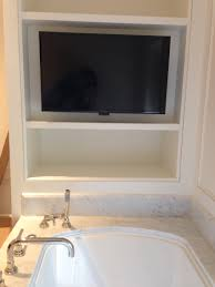 Chandelier Over Bathtub Safety by Bathroom Tv Mounted Above Bathtub Cloud 9 Av Residential