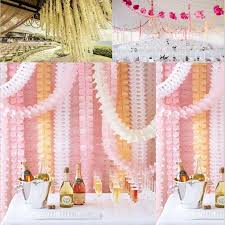 3 6m four leaf clover paper garlands party wedding home decoration