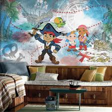 roommates 72 in w x 126 in h captain jake and the never land h captain jake and the never land pirates xl chair rail 7 panel prepasted wall mural jl1387m the home depot