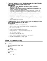 Waiter Job Description Resume by Server Job Duties For Resume Contegri Com