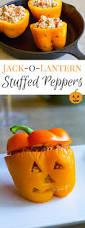 jack o u0027lantern stuffed peppers for halloween dinner