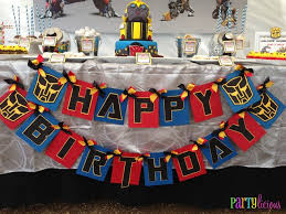 printable transformers birthday banner transformers birthday party ideas transformer birthday