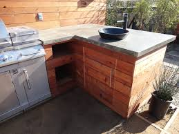outdoor kitchen sinks ideas custom contemporary outdoor kitchen with vesel sink concrete