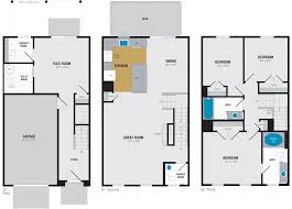 Garage Size by Floor Plans Enclave At Box Hill Apartments The Bozzuto Group