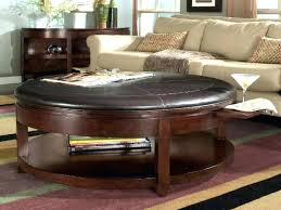 Ottoman Tables Leather Coffee Table With Storage Berkeley Leather Storage Ottoman