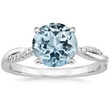aquamarine and diamond ring aquamarine engagement rings brilliant earth