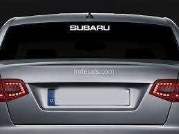 subaru decals 1 x subaru sticker for windshield or back window white