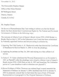 letter to the prime minister u2013 stephen harper and all provincial