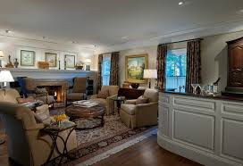 oversized wall family room transitional with design build