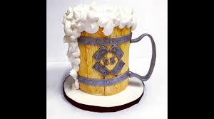 beer barrel cake mini beer stein cake tutorial youtube