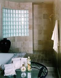 Glass Block Bathroom Designs Glass Block Bathrooms One Level Shower Pan For A Glass Block Wall