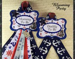 Mom To Be Corsage Nautical Mommy To Be Corsage Nautical Theme Baby Shower