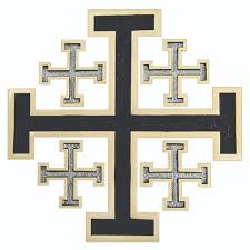 crosses for wall necklaces polished bronze new jerusalem wall cross w black silver