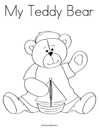 my teddy bear coloring page twisty noodle