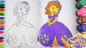 sofia the first coloring pages rainbow art colors for kids youtube