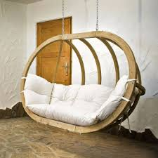 canapé suspendu canapé suspendu de jardin royal globo blanc nature