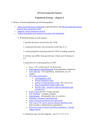 apes notes human population growth