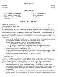 Vmware Resume Sysadmin Resumes