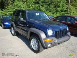 jeep dark blue 2004 jeep liberty sport 4x4 in patriot blue pearl 132046 all