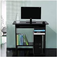 bureau informatique noir bureau informatique avec etagère noir neuf top prix pas cher à