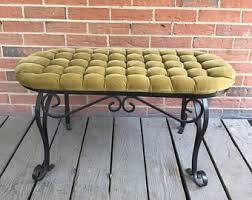 tufted bench cushion etsy