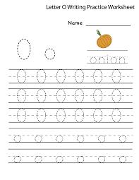 worksheet of the letter o for kids loving printable