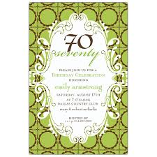 birthday 70 lime chocolate scalloped dot invitations paperstyle