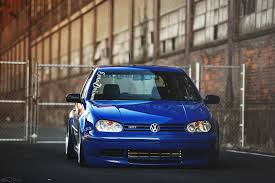 volkswagen golf blue volkswagen golf gti golf blue tuning front hd wallpaper