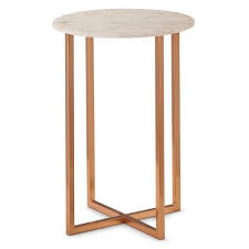 marble side table target threshold copper accent table with marble top wishlist