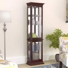 lighted curio cabinet oak philip reinisch co fairfield i lighted curio cabinet reviews