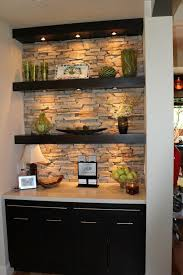 kitchen cabinet lighting brackets black cabinets but with pallet wood wall and the floating