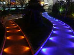 Rgb Landscape Lights Low Voltage Rgb Color Changing Outdoor Half Moon Led Deck Step