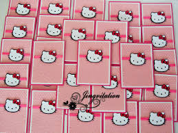 Hello Kitty Birthday Invitation Card Jingvitations Hello Kitty Birthday Party Invites