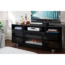 fireplace creative black electric fireplace tv stand cool home