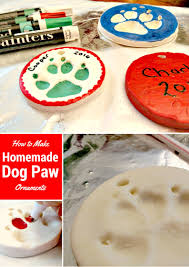 How To Make Homemade Ornaments by How To Make A Homemade Dog Paw Ornament