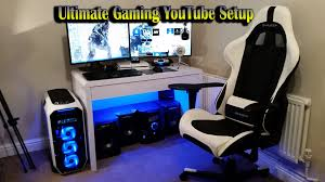 Computer Desks For Gaming by Ultimate Gaming Youtube Setup 2015 Dual Monitors Gtx 970 U0027 U0027s Rog