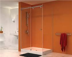 semi frameless shower door glass frameless bed u0026 shower