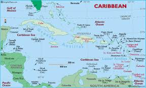 Map Of The Caribbean Islands by Gale Gayle Families Of The West Indies