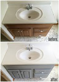 How To Install A New Bathroom Vanity by Painted Bathroom Vanity Michigan House Update Paint Bathroom