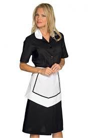blouse femme de chambre blouse et tablier femme de chambre manches courtes noir blanc in