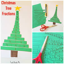 christmas tree fractions printable activity teach beside me