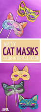 cat masks printables and paper craft moms and crafters