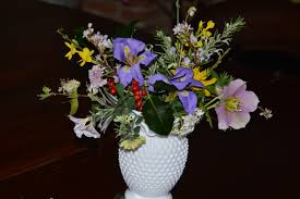 in a vase on monday christmas cheer the blooming garden