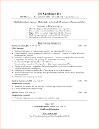 Example Of An Resume by 7 Example Of A Resume For First Job Basic Job Appication Letter