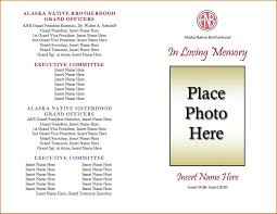 memorial service programs phlets free templates photos of funeral service program
