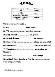 los verbos tener y ser para mis clases de ele pinterest