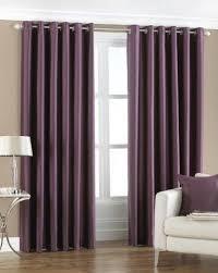 Aubergine Curtains Aubergine Purple Width 66 X Drop 90 Faux Silk Eyelet Ring