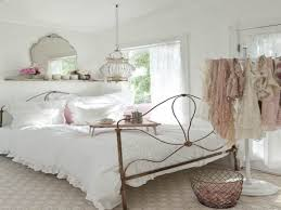 taupe bed cover color and blue color of sheet shabby chic bedroom