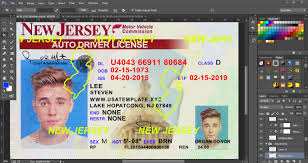 new jersey driver license template psd template usa uk eu ca au
